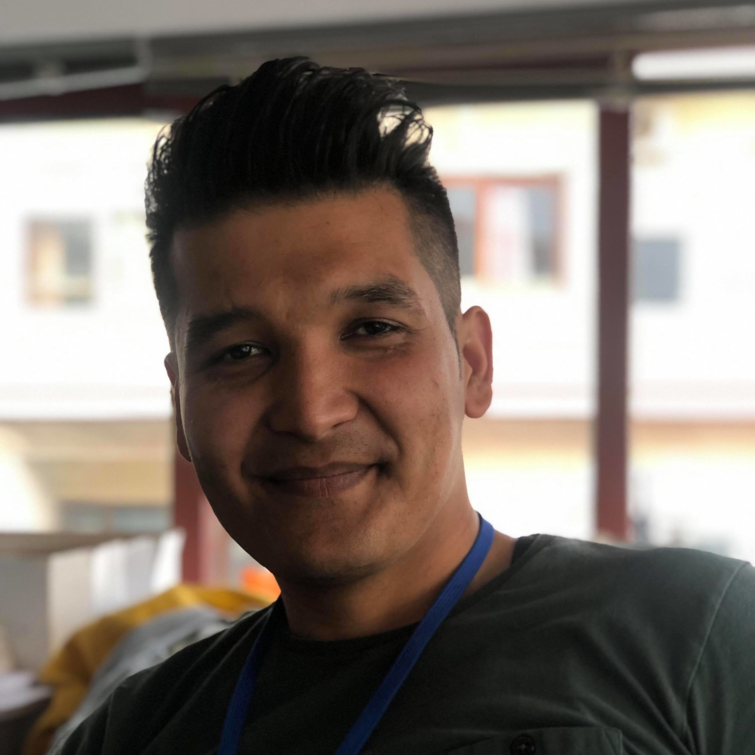 "Mohammad Hossain, 28 - Afghanistan      ""It is always my pleasure to help people in every way, even in hard places like Samos.""  Most of the time he's in guitar class, but nowadays he's practicing his English a lot to pass the exams."