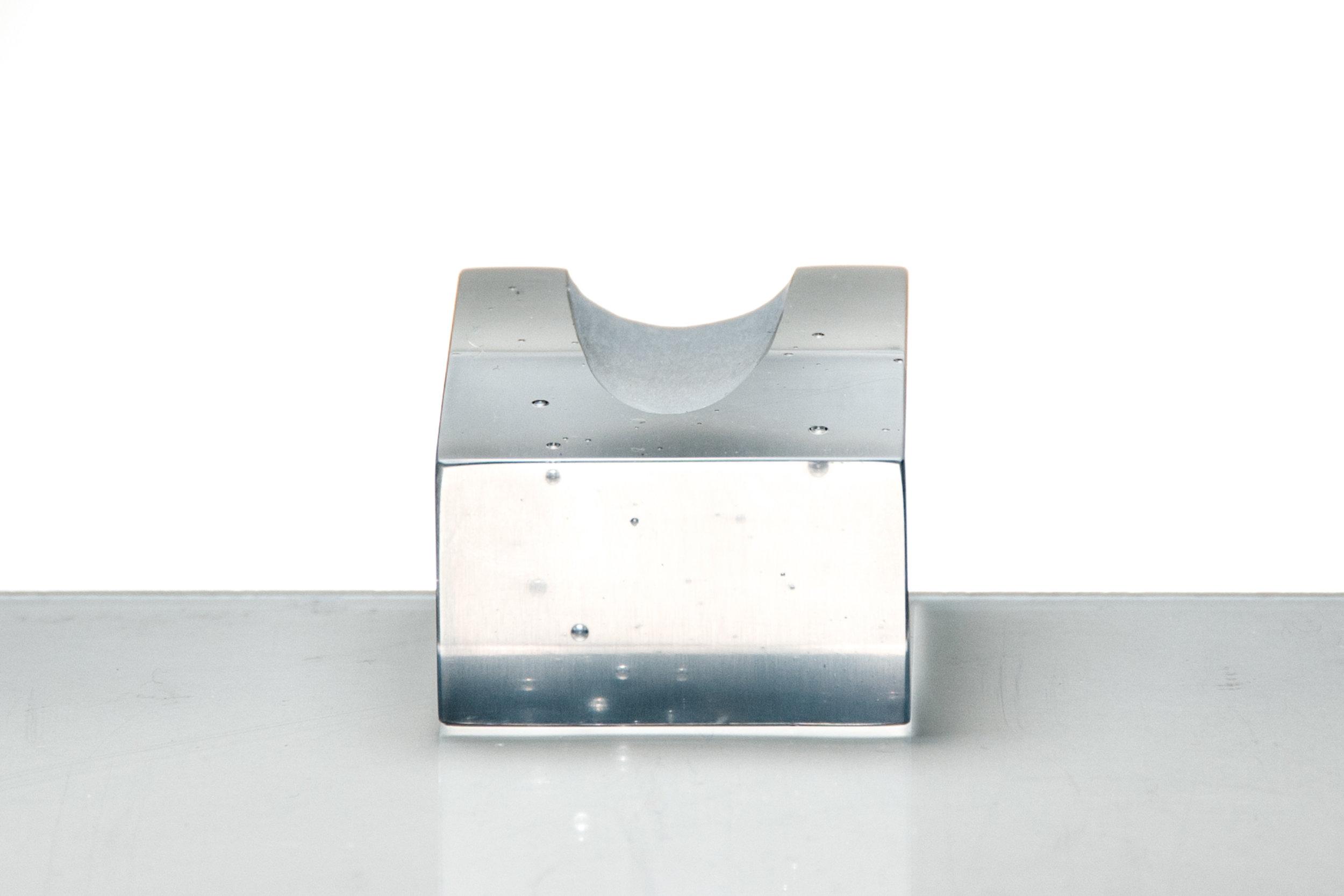 """Form, II Coldworked Glass 1"""" x 1.5"""" x 2"""" 2015"""