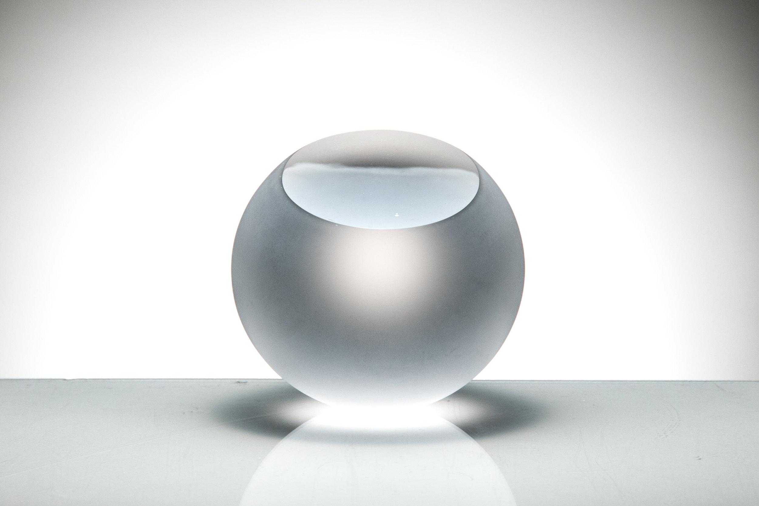 """Form, III Coldworked Glass 3"""" x 3"""" x 3"""" 2015"""