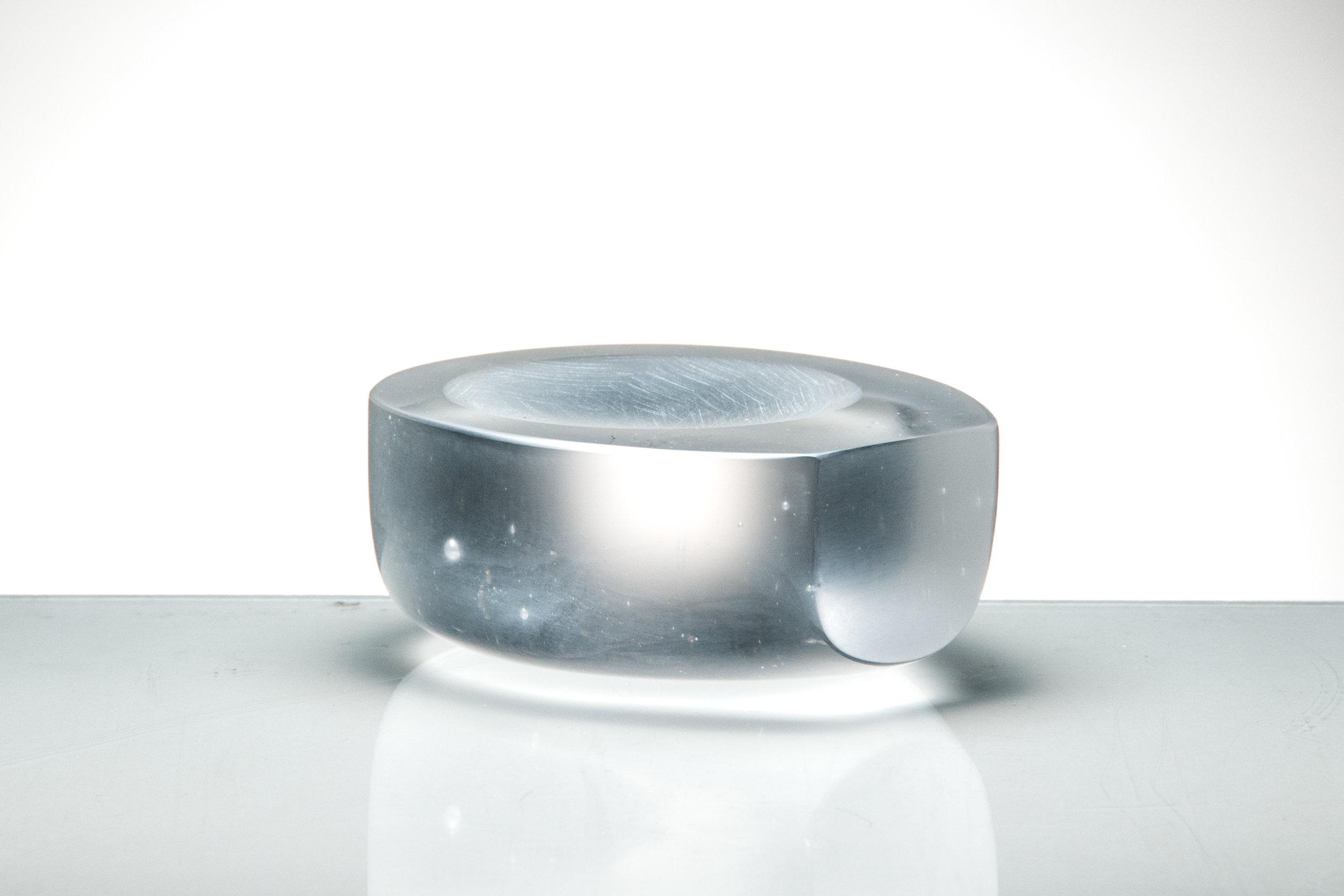 "Form, IV Coldworked Glass 1.5"" x 4"" x 3"" 2015"