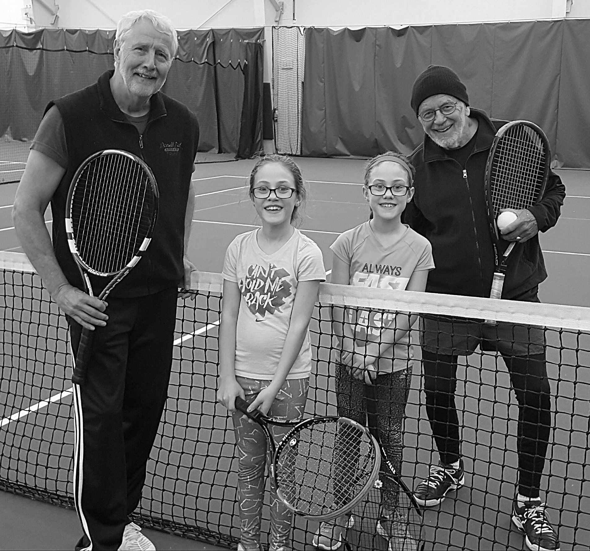 Tennis for all ages... and sizes!