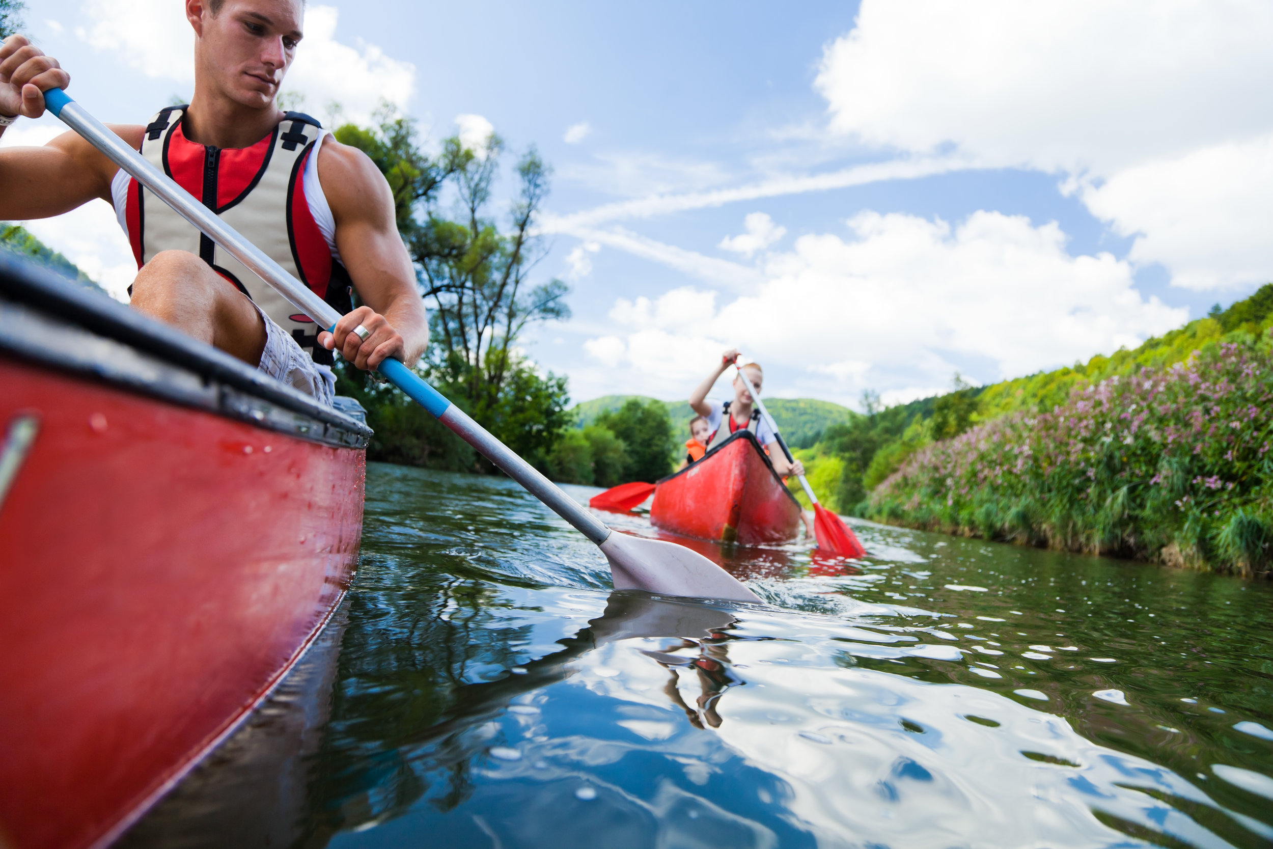 Three Essential Exercises to Excel in the Canoe and Kayak Legs - Build your strength and stability through weight training while spending adequate time practicing the skills of your sport.