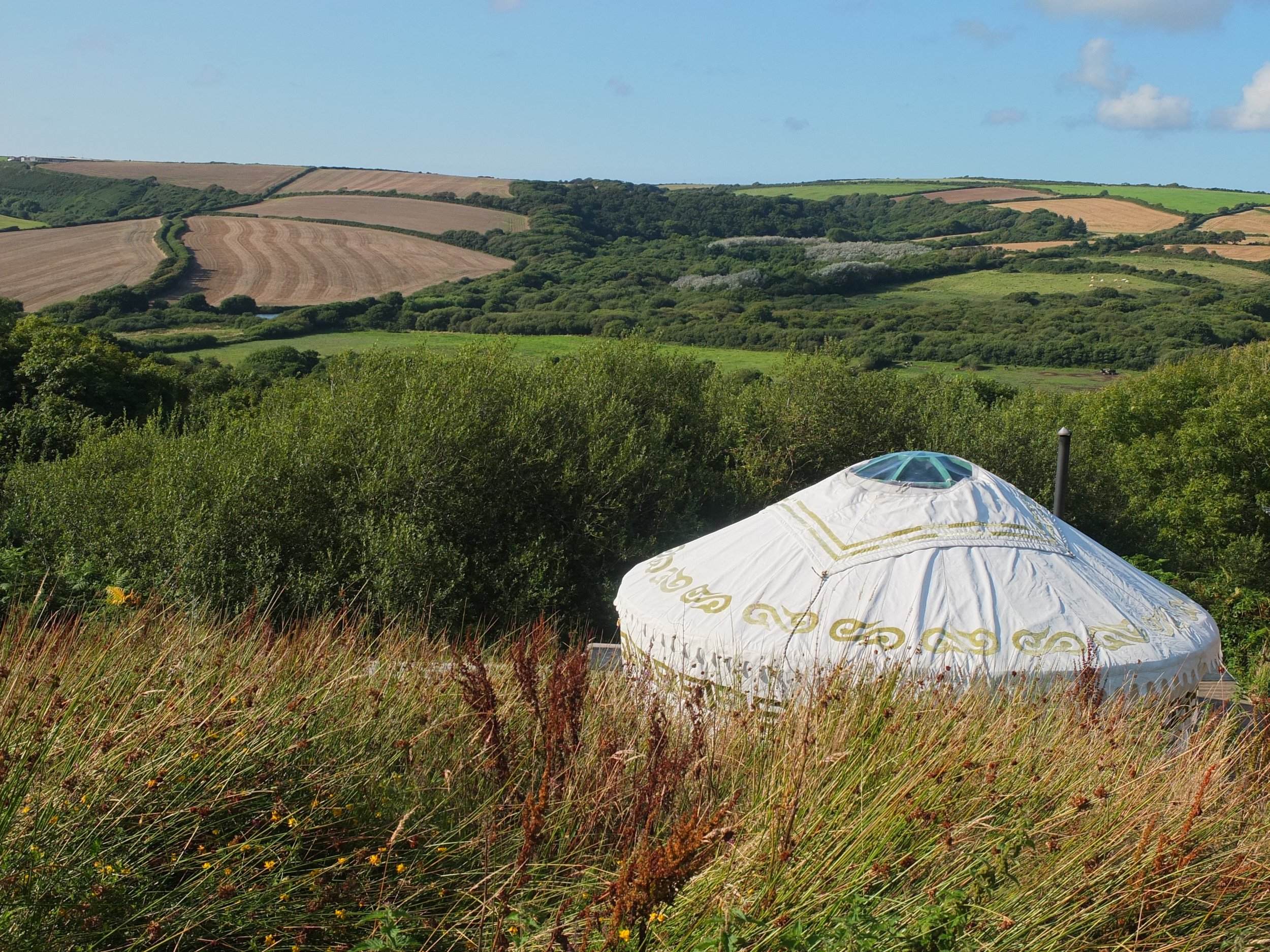 Our yurt and the view