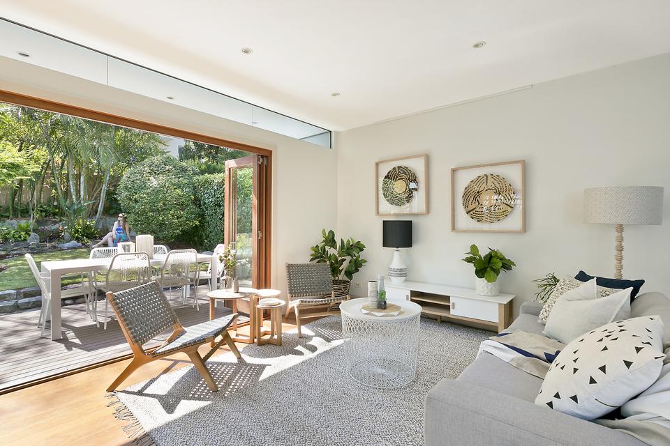 Open, family room in Fairlight