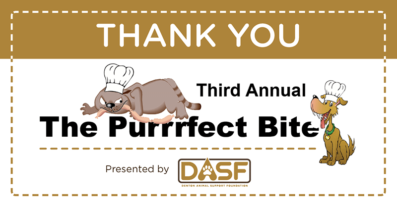 Thank You graphic with Purrrfect Bite logo