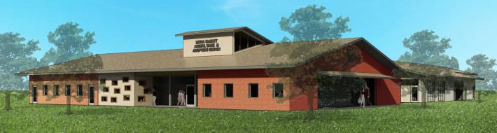 Rendering of the Linda McNatt Animal Care and Adoption Center