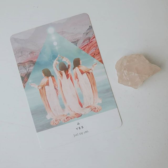 "this card isn't what it seems. ⠀⠀⠀⠀⠀⠀⠀⠀⠀ it's usually a ""take those risks"" card. but this week, it's a bit different. we're guided to ask ourselves what our absolute yes is. ⠀⠀⠀⠀⠀⠀⠀⠀⠀ what can you not live without? let me know below 👇🏻 ⠀⠀⠀⠀⠀⠀⠀⠀⠀ for me, it's the ability to have friends and support systems. without support, I'd be defeated. . . . #spiritualinsta #stayathomemom #yearofyou #spiritjunkie #liveinthenow #witchesofinstagram #selfdiscovery #starseeds #womenempoweringwomen #ladyboss #soultribe #mysticmama #workfromhomemom #thehappynow #beingboss #momsofinstagram #freedomrebellion #awakethelight #awakethesoul #liveauthentic #spiritualawakening #intentionalliving #risesisterrise #spiritualcoach #ohheymama #heartcentered #witchessociety #mynameismama #lawofattraction #spiritualmom"