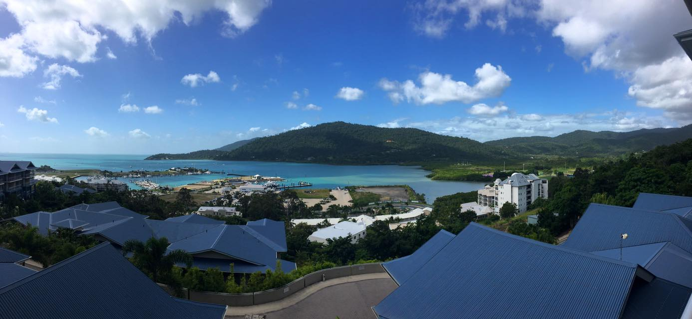 This was the view of Airlie Beach from our accommodation... Airlie Beach, Queensland