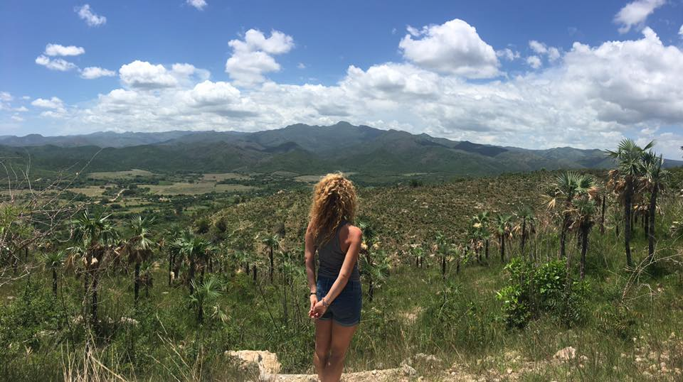 At the top of the mountain near the white and red tower | Trinidad, Cuba