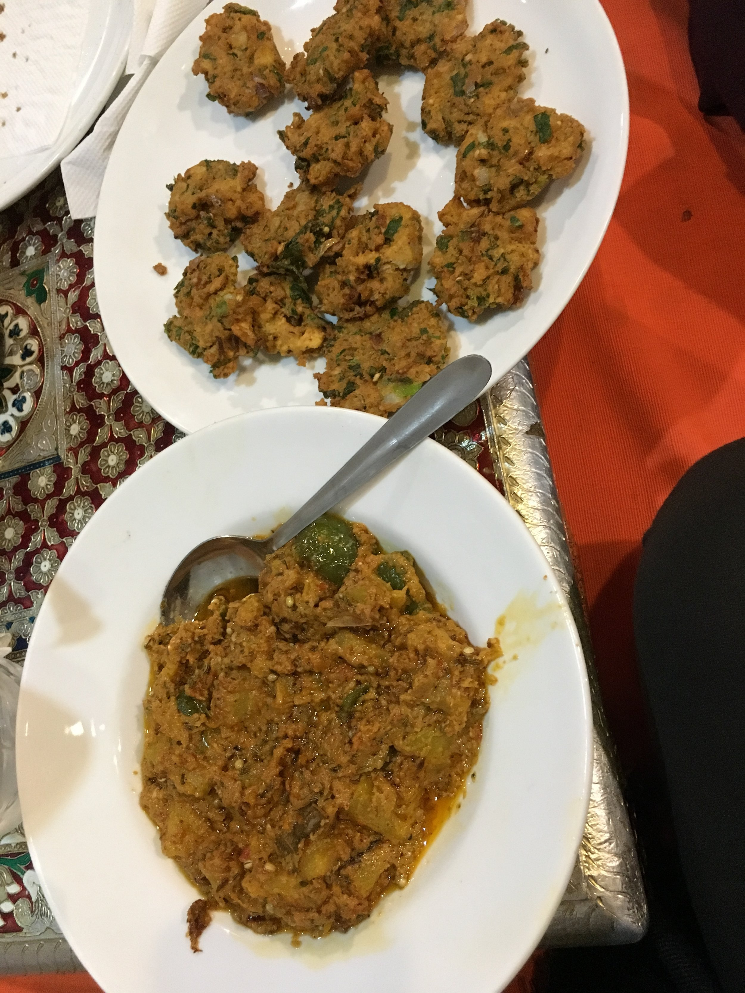 Pumpkin Curry and Vegetable Pakoda @ Yummy Yoga