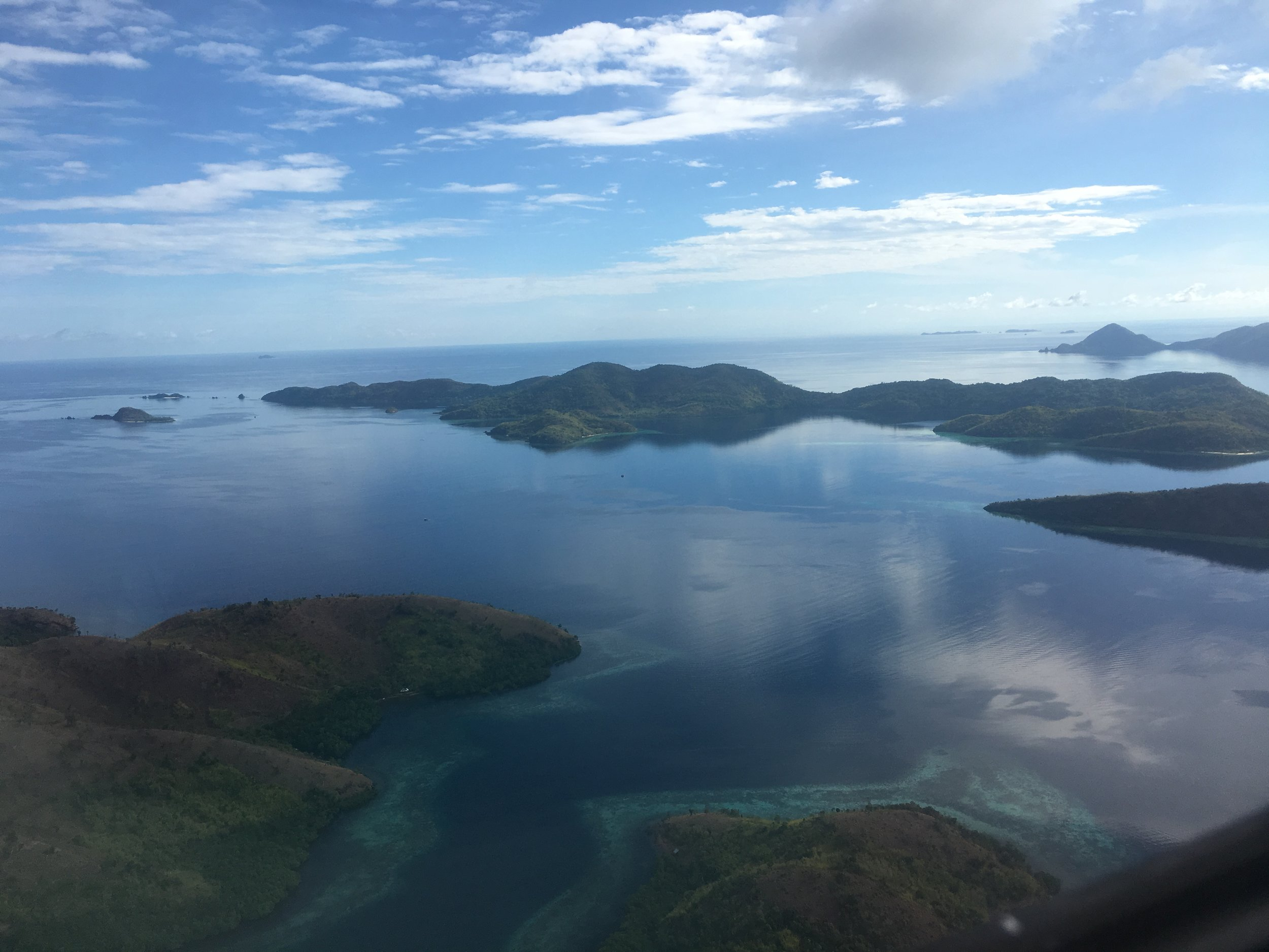View from my plane ride to Manila