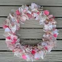 Door garland made from upcycled fabric - Christmas door garlands avaliable, please order in advance