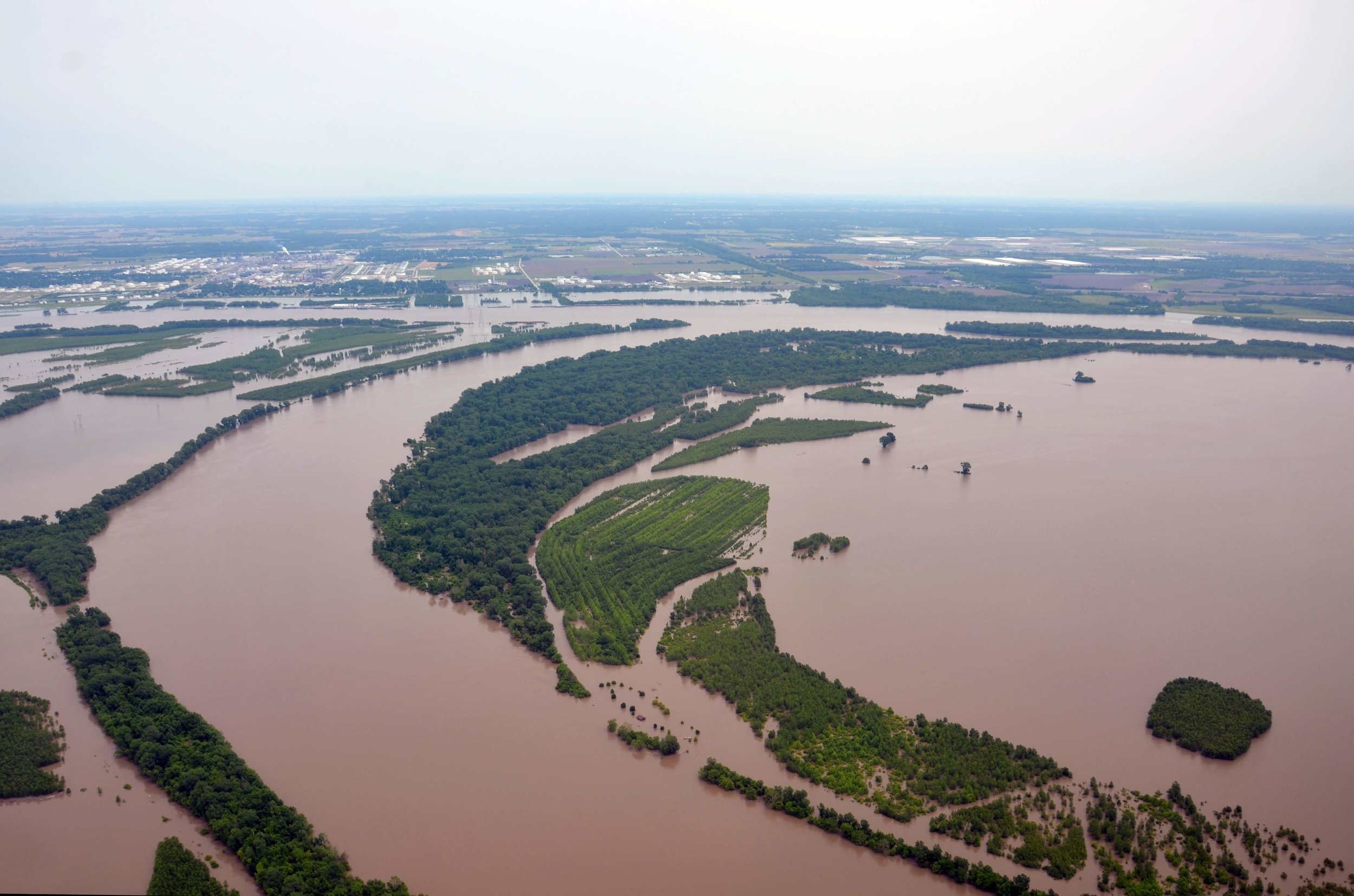 Confluence of the Missouri and Mississippi Rivers | Photo taken on June 3 by Derek Hoeferlin