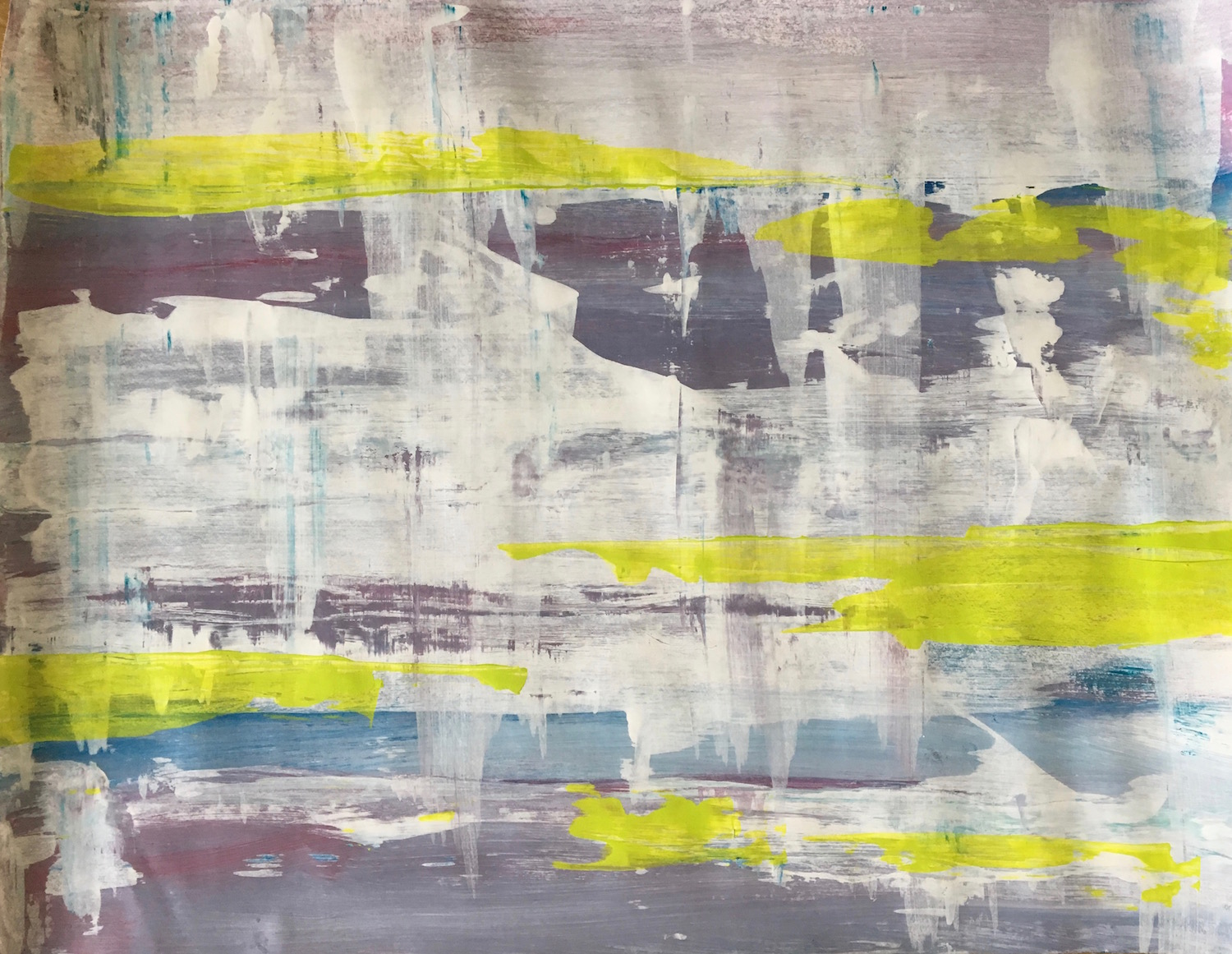 """Exhale - 26"""" X 20"""" Acrylic on paper$30 - $80"""
