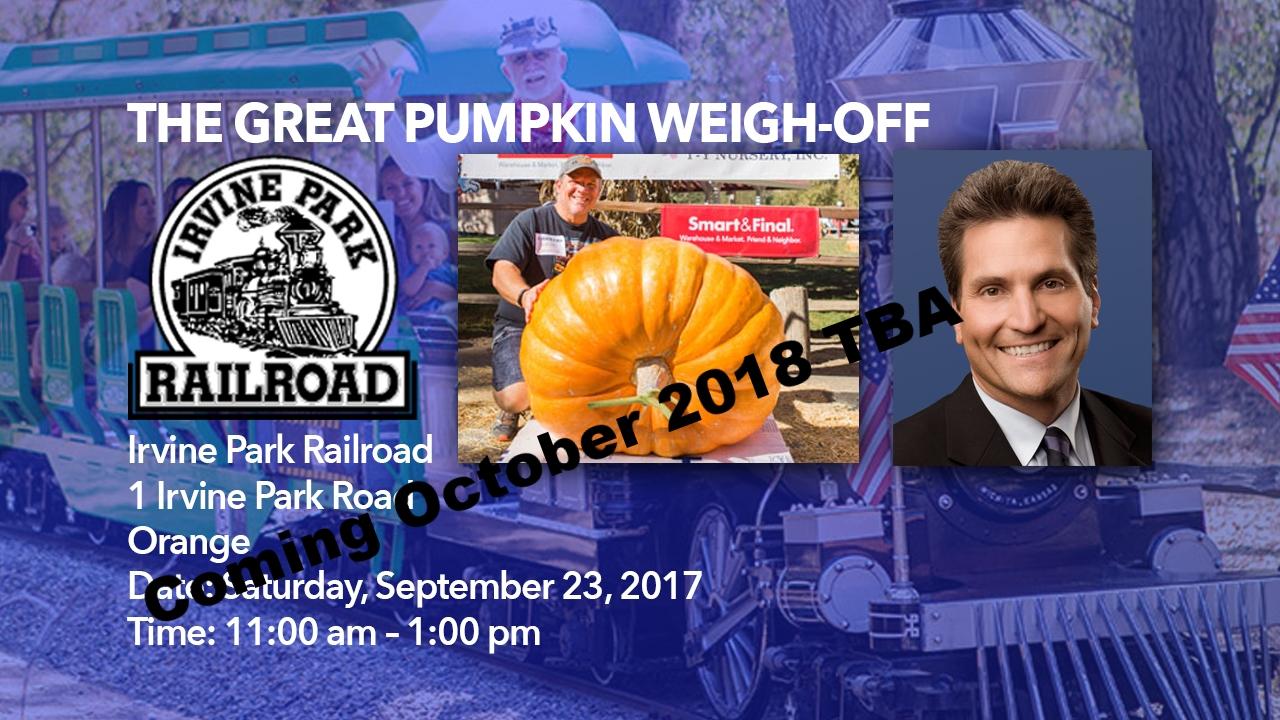 The Great Pumpkin Weigh-Off 2018