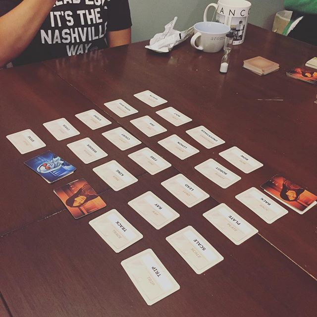 Family game night. #codenames #easter
