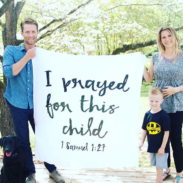 It's been a journey to get to this point, but God has been faithful. We are excited for October! #babyJ