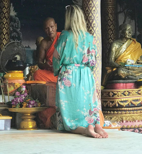 Blessing from a Monk