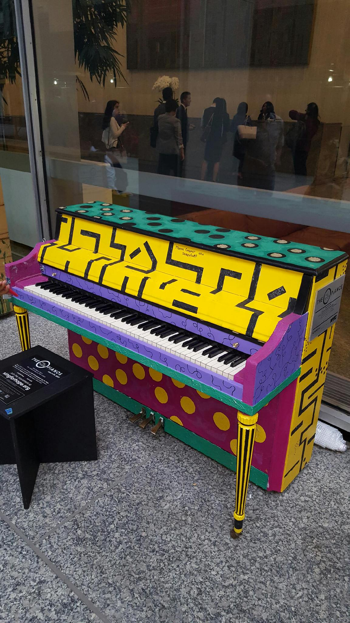 Completed Sing For Hope Piano