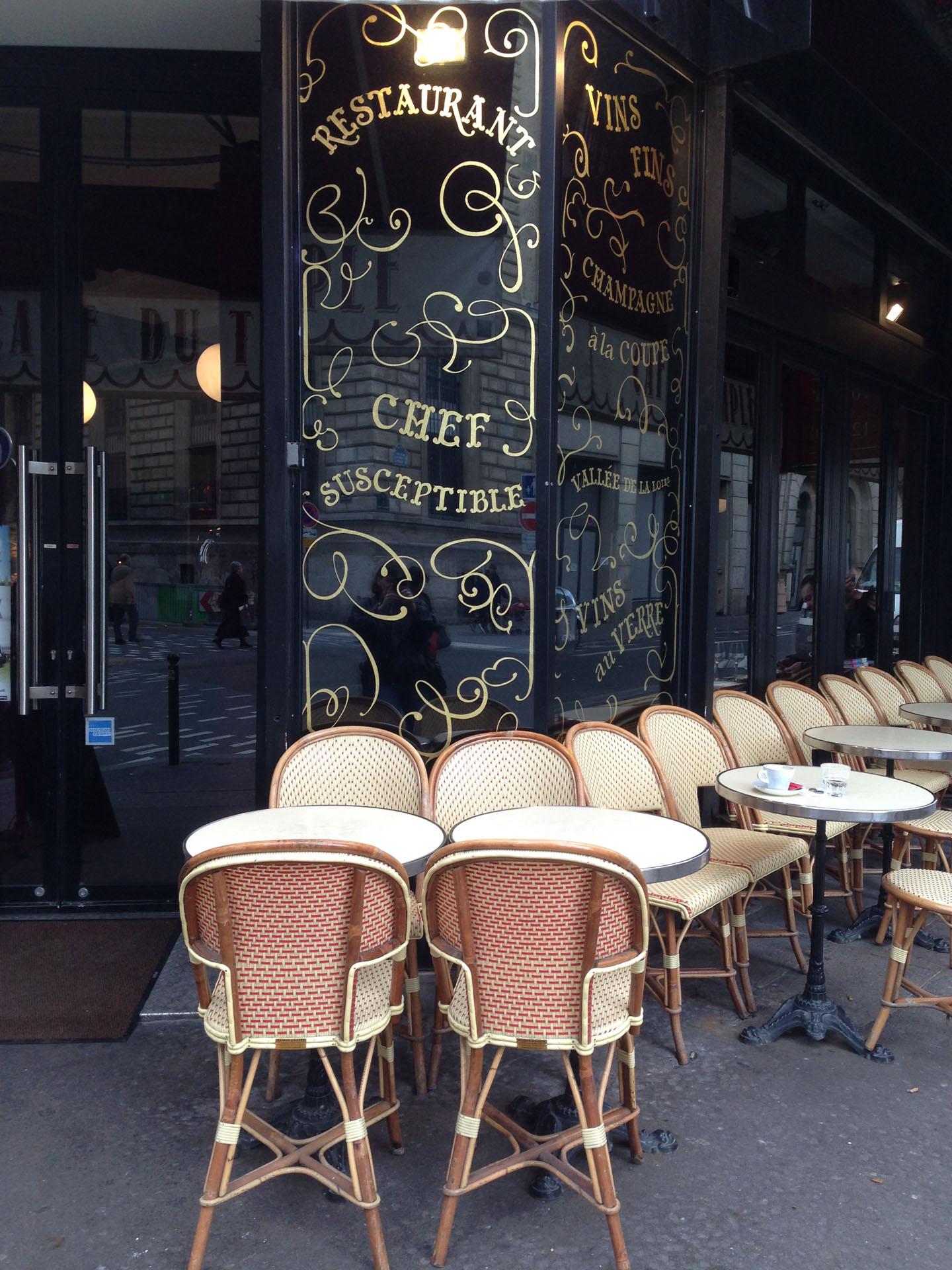 Chef susceptible restaurant in Paris