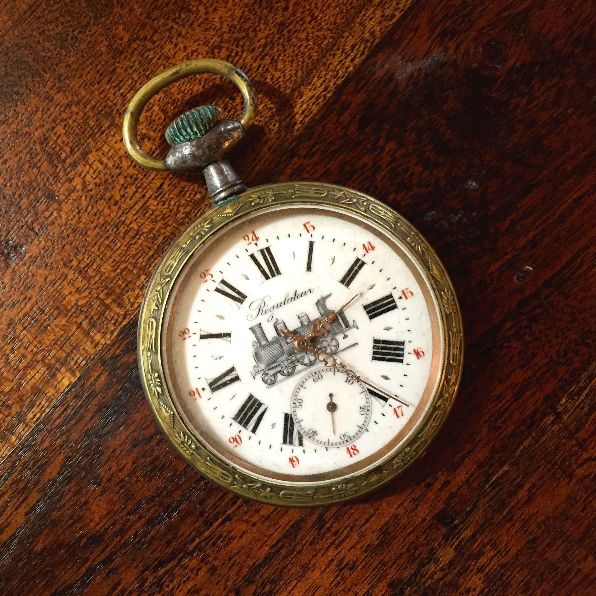 French regulateur pocket watch