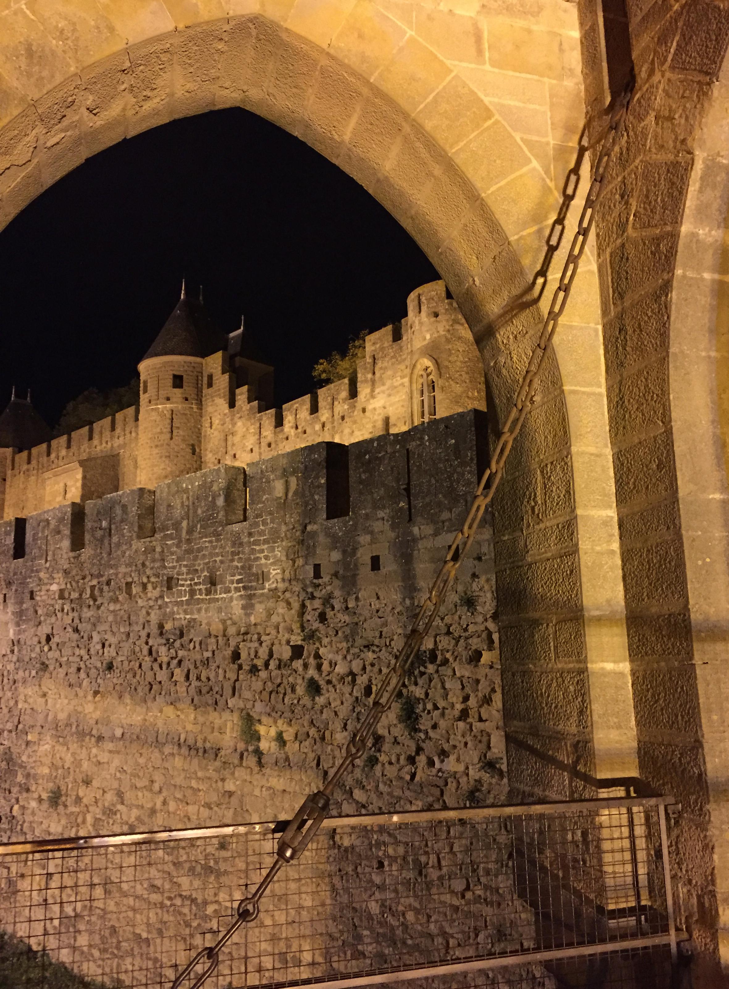 Draw bridge in Carcassonne
