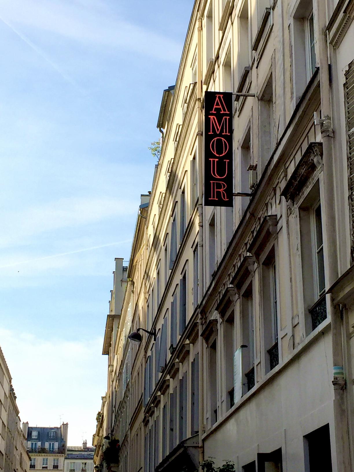 Hotel Amour signage