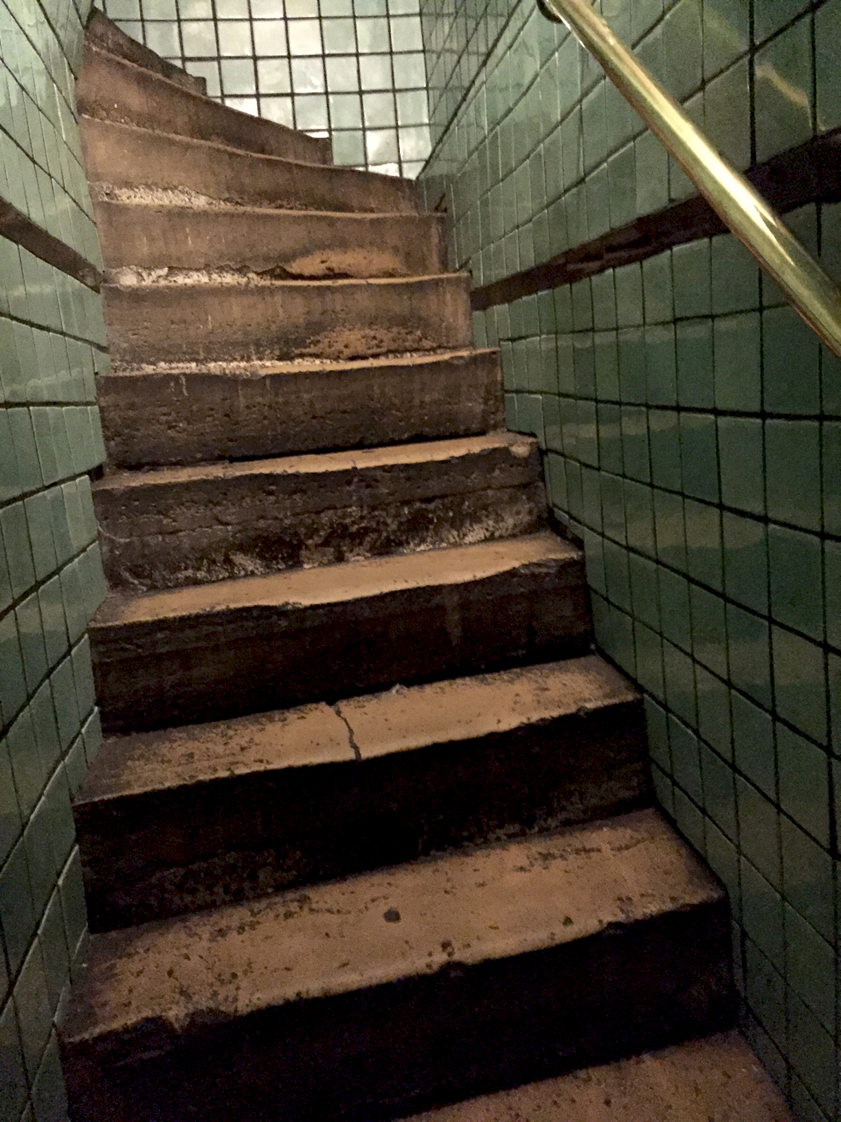 Stairs down to the bathroom...