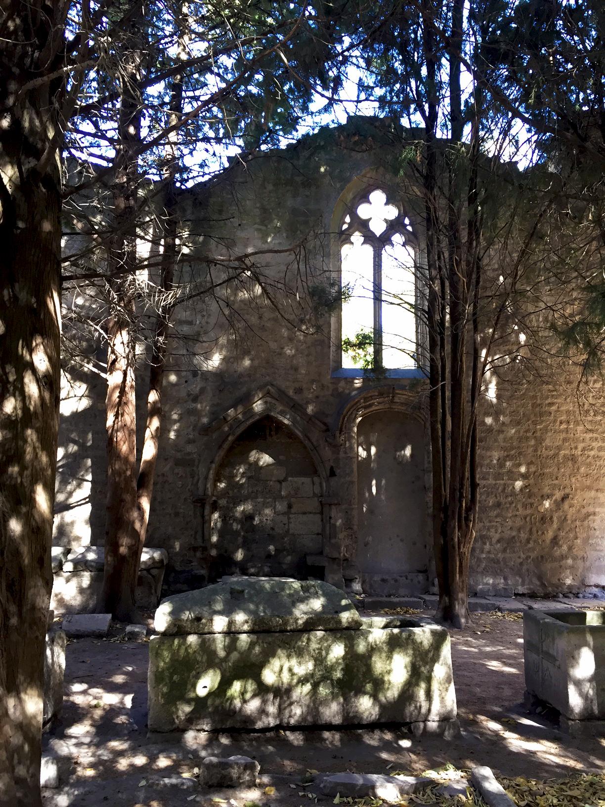 Courtyard at Saint-Honorat