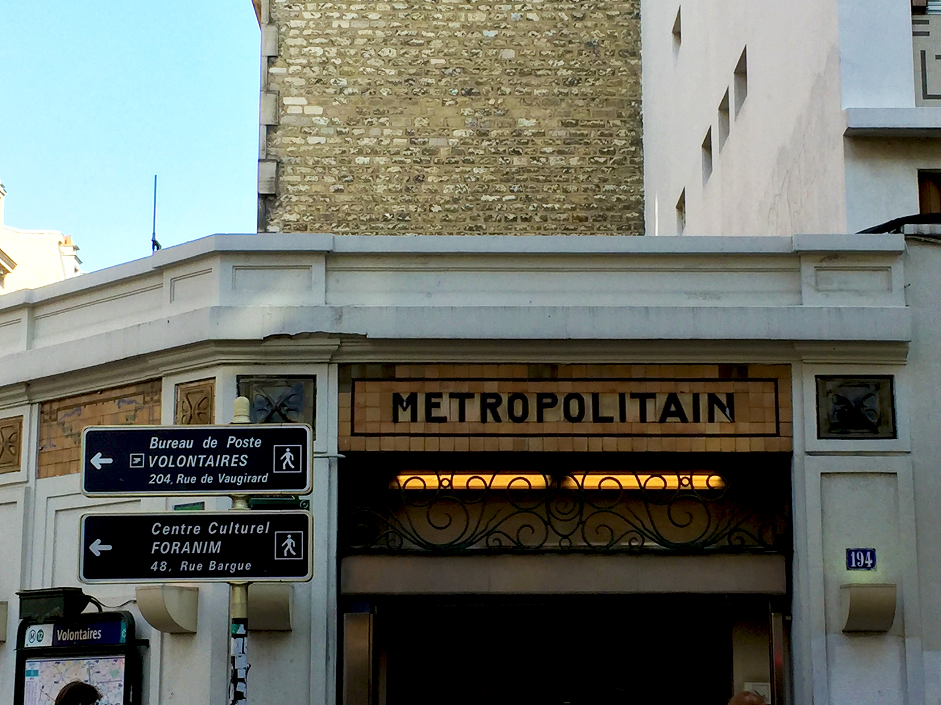 Station Volontaires in the 15th arrondissement opened in 1910. Truly one of a kind.