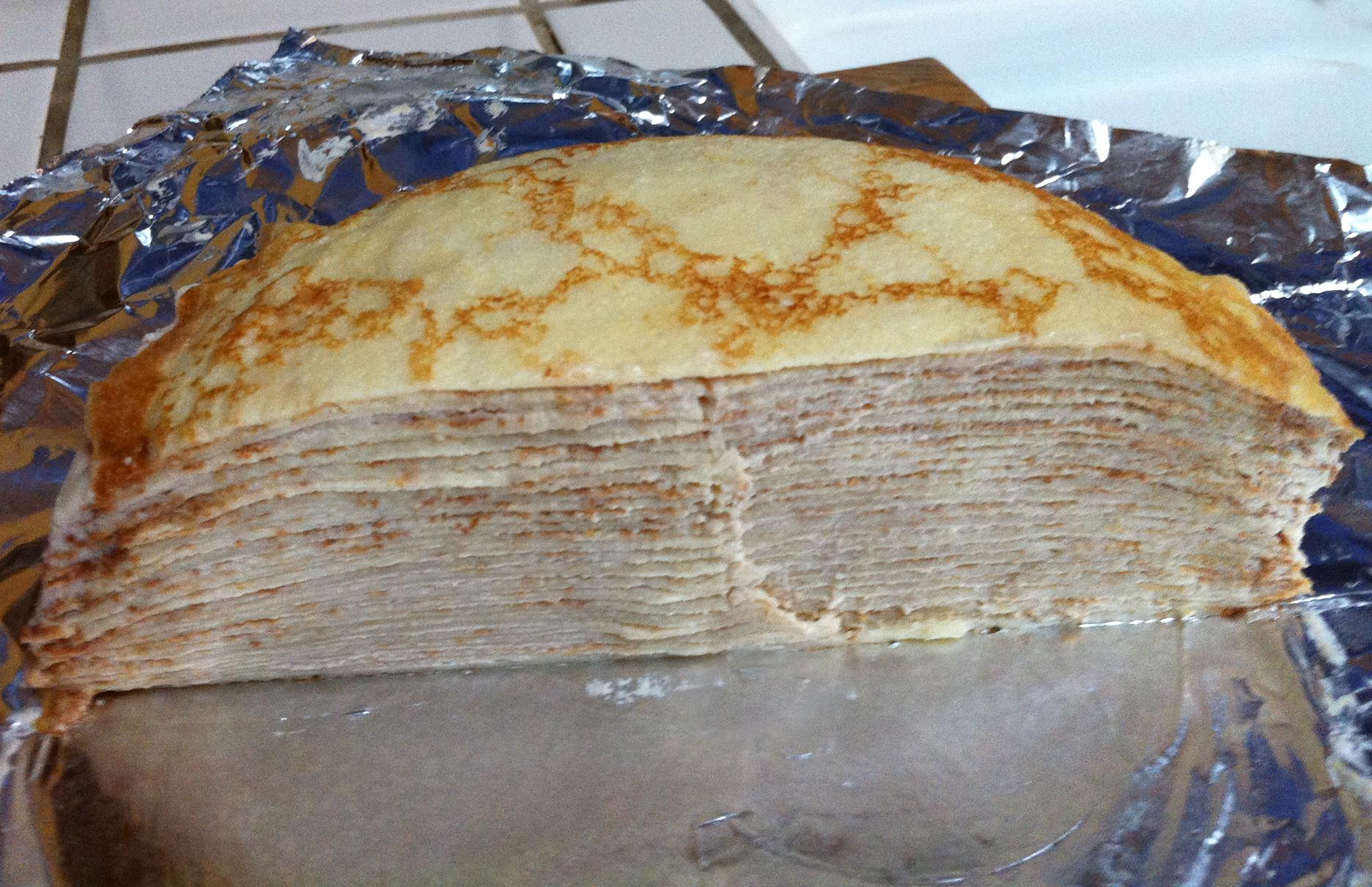 Half of my mille crêpes cake