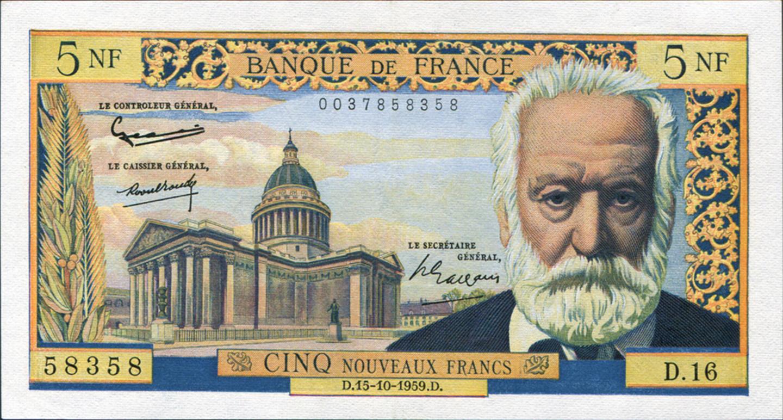 Victor Hugo, 5 NF