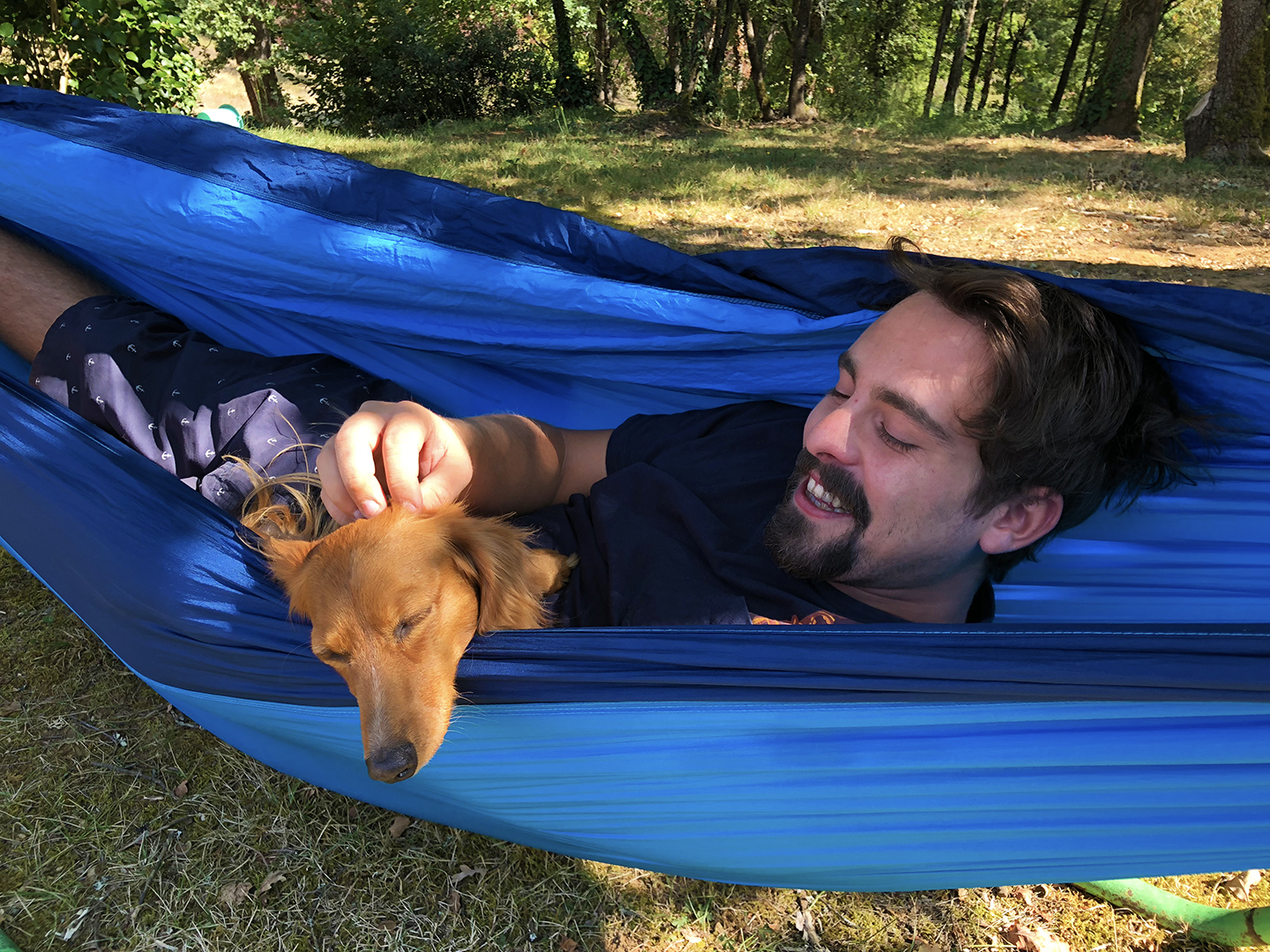 After a nice Sunday lunch, I got to nap in the hammock with Cousin Brice.