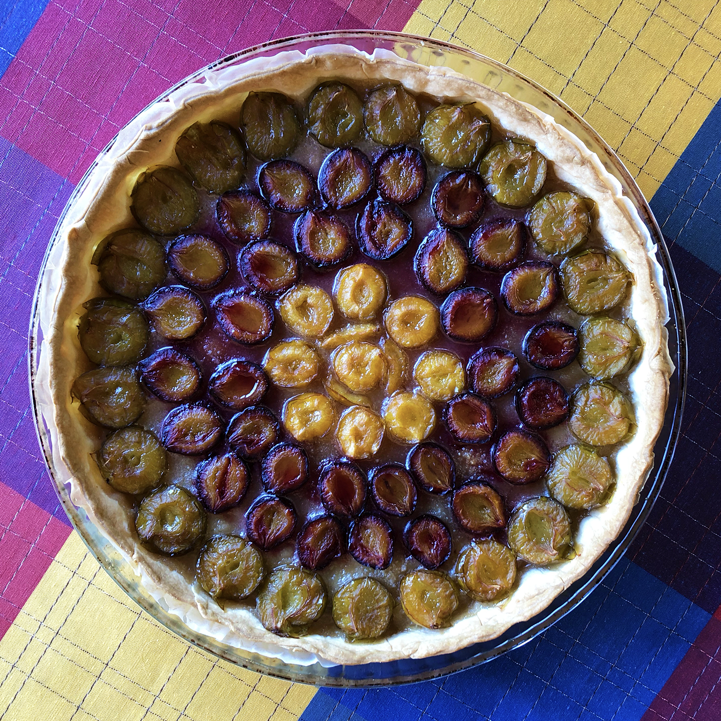 Three plum tart