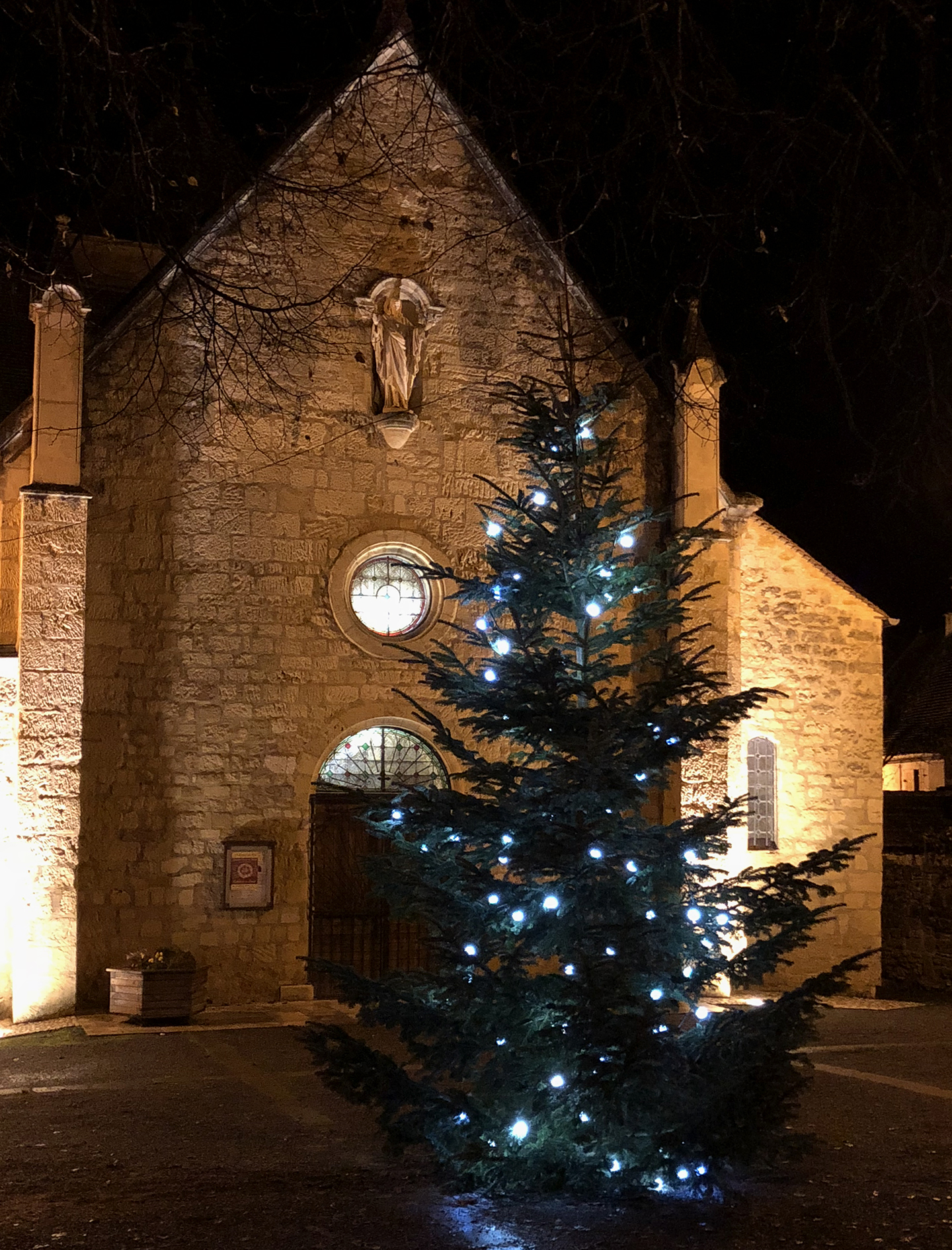 Christmas tree in Payrignac