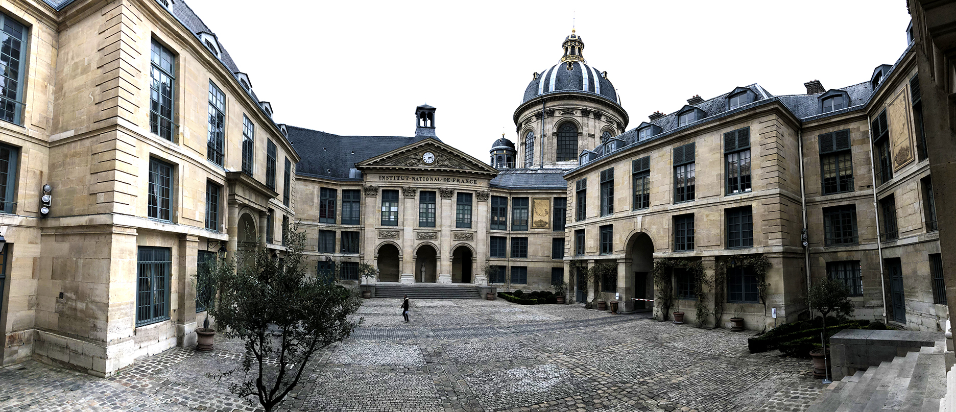 A panoramic view of the courtyard
