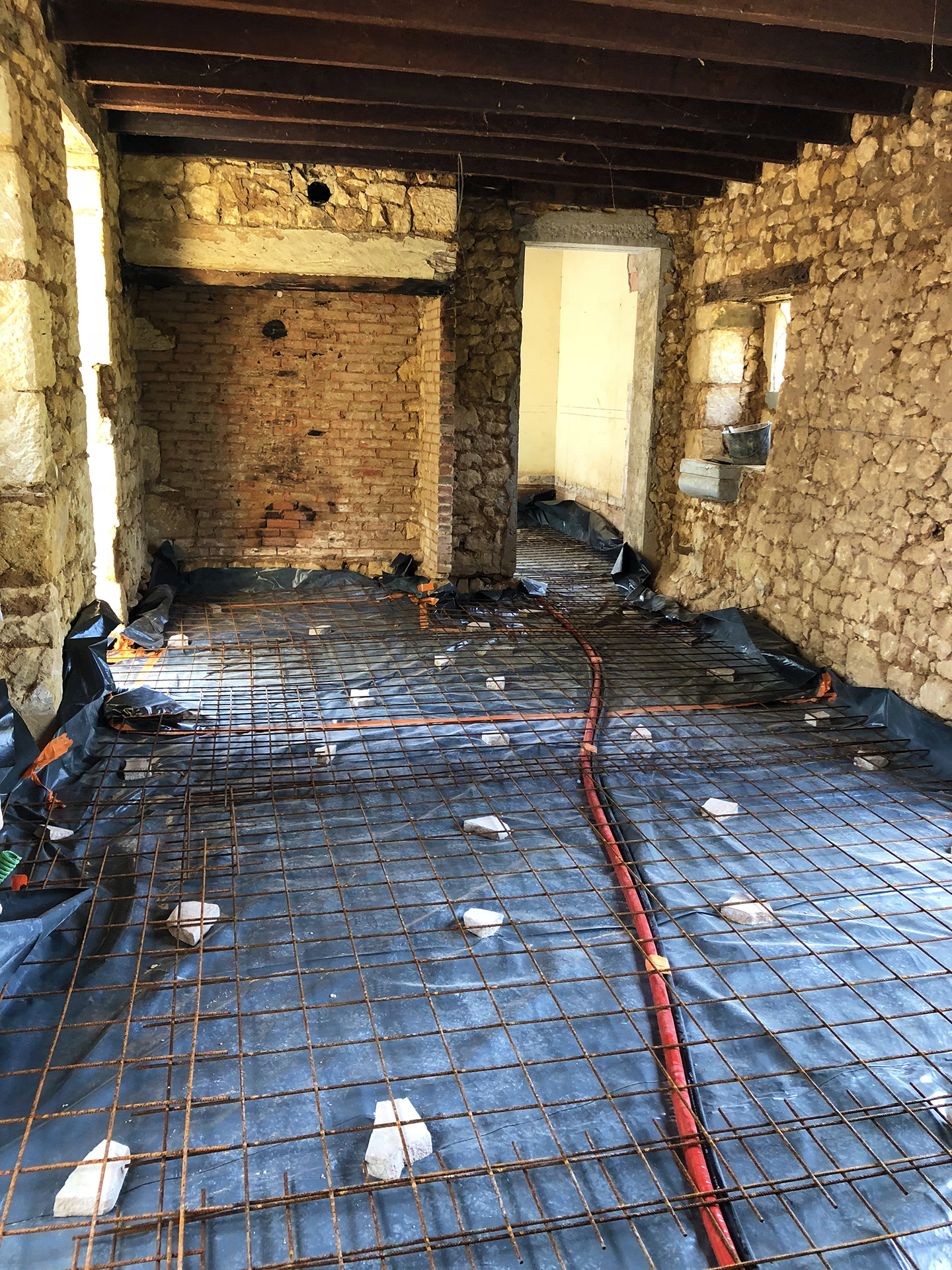 Great room floor before the concrete pour