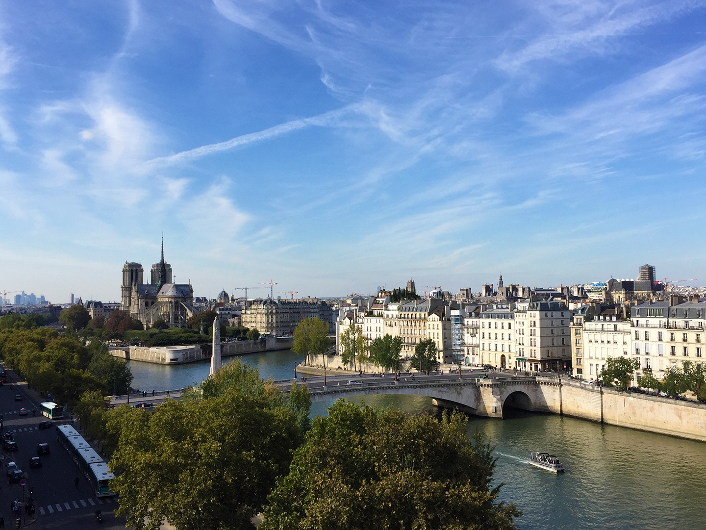 From the terrace of the Insitut du Monde Arabe