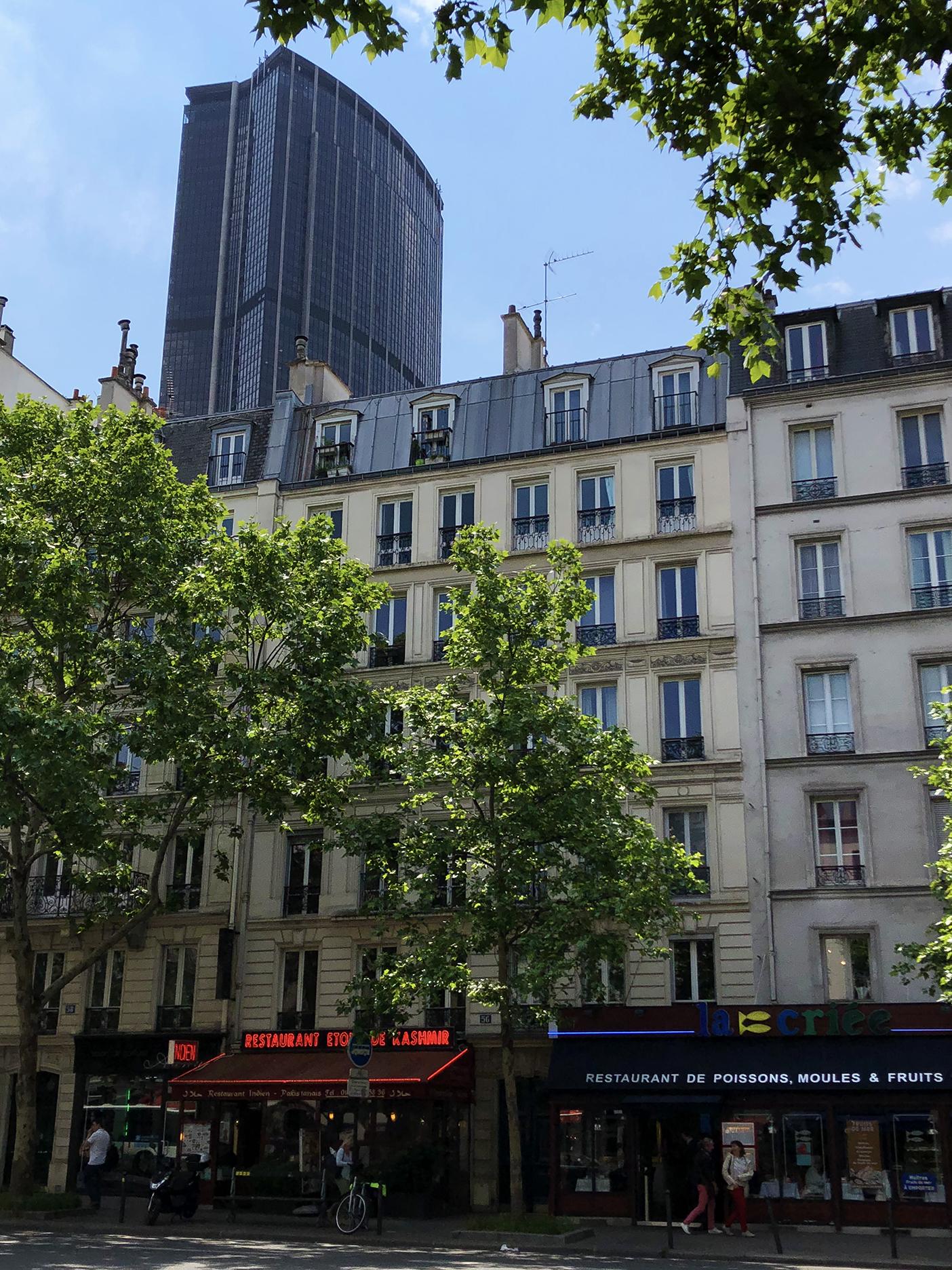 Tour Montparnasse viewed from boulevard du Montparnasse