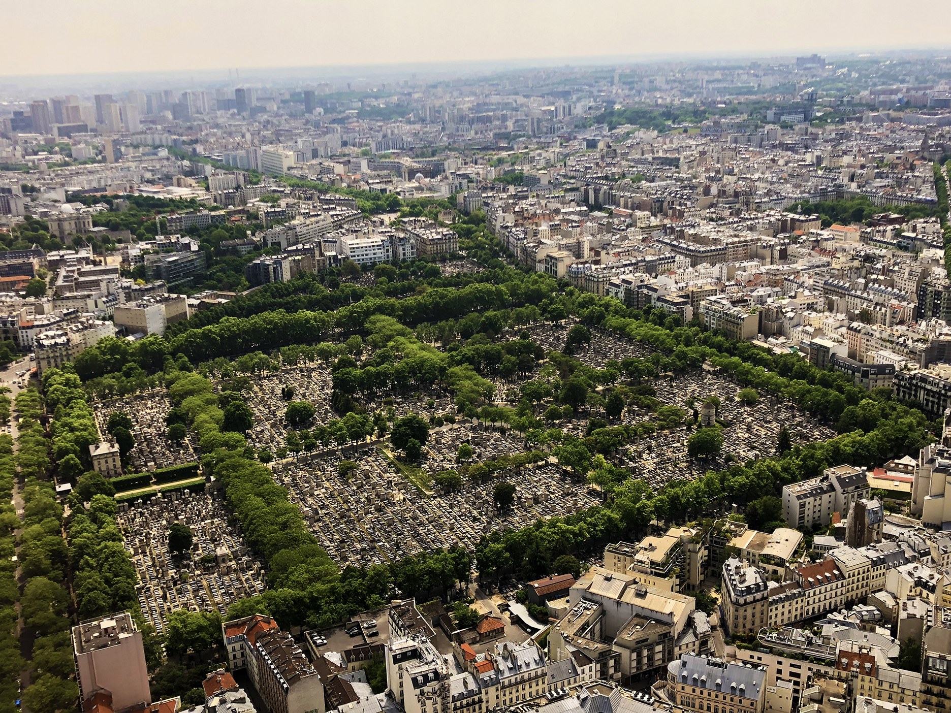 Montparnasse cemetery with its windmill to the right