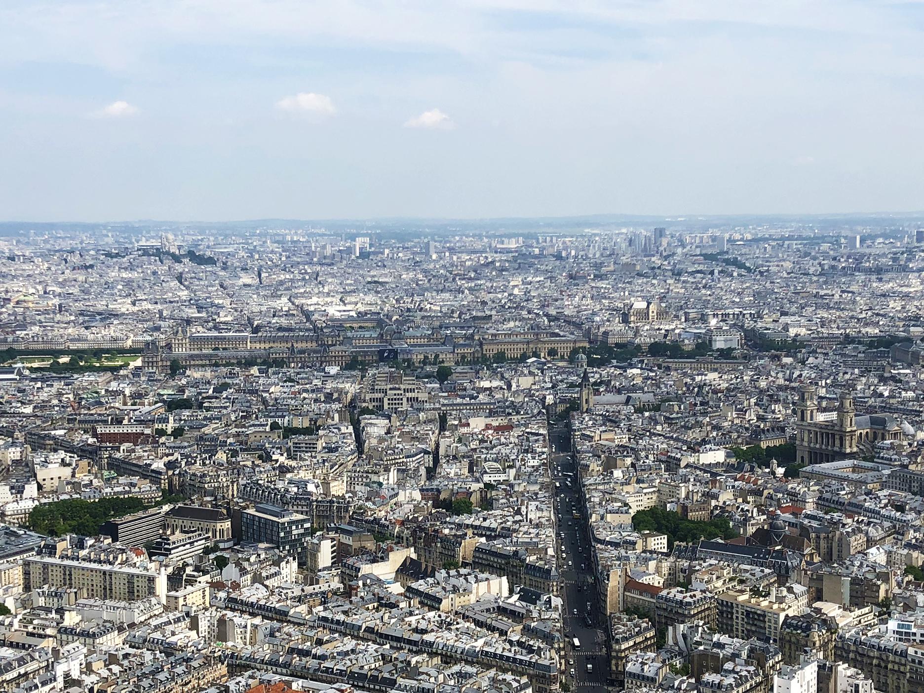 Jardin des Tuileries, Montmartre, Le Louvre, L'Institut, St Germain des Prés, St Eustache, St Sulpice.
