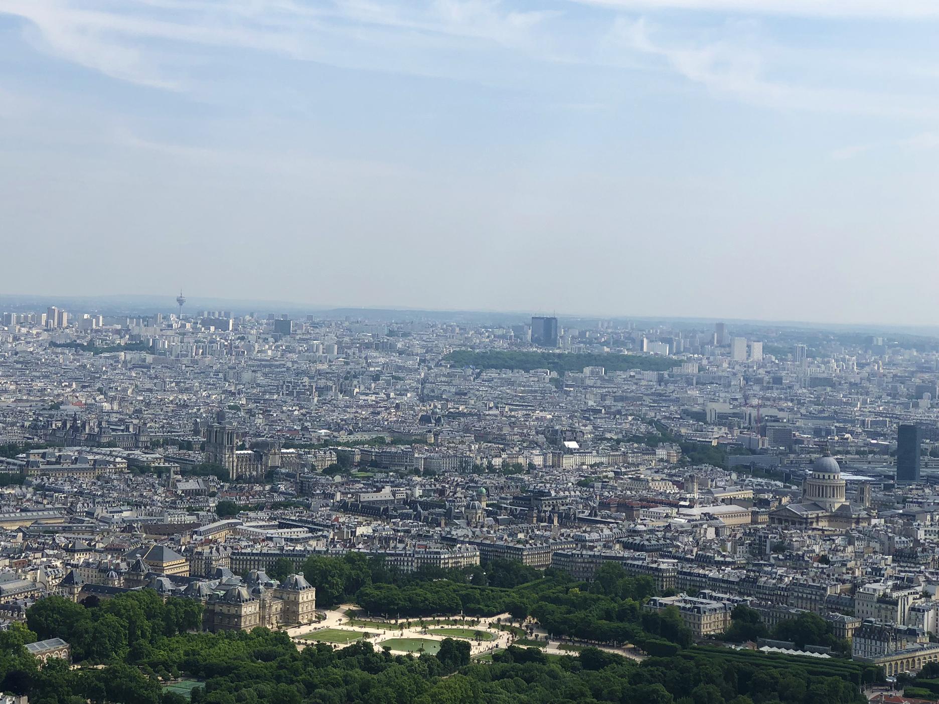 Notre-Dame, Luxembourg gardens, la Sorbonne, Le Panthéon, tour Jussieu.
