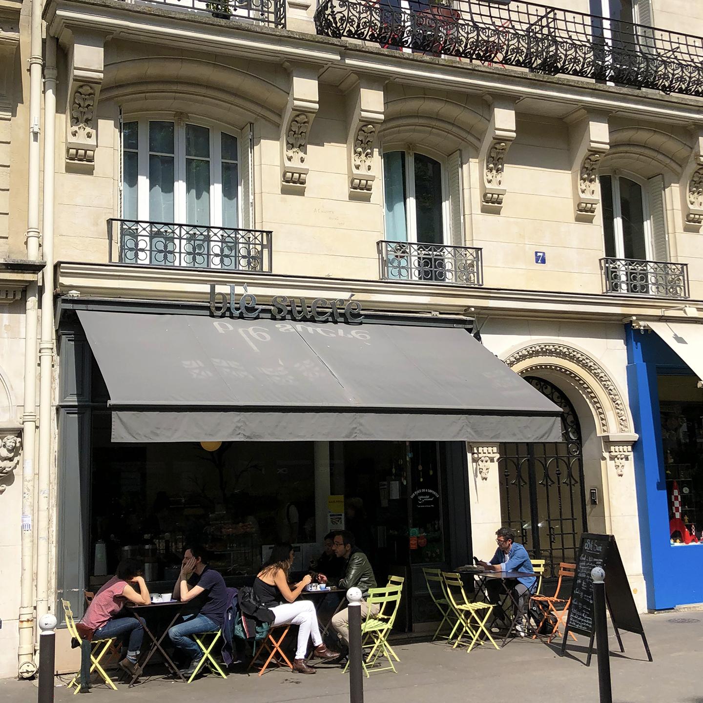 Blé Sucré, a well-known boulangerie-pâtisserie across from square Trousseau. Perhaps the best croissants in Paris…