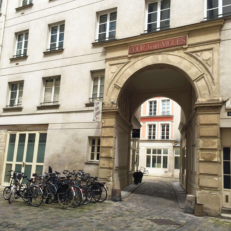"""Cour Jacques Viguès; a little more """"monumental"""" than most."""