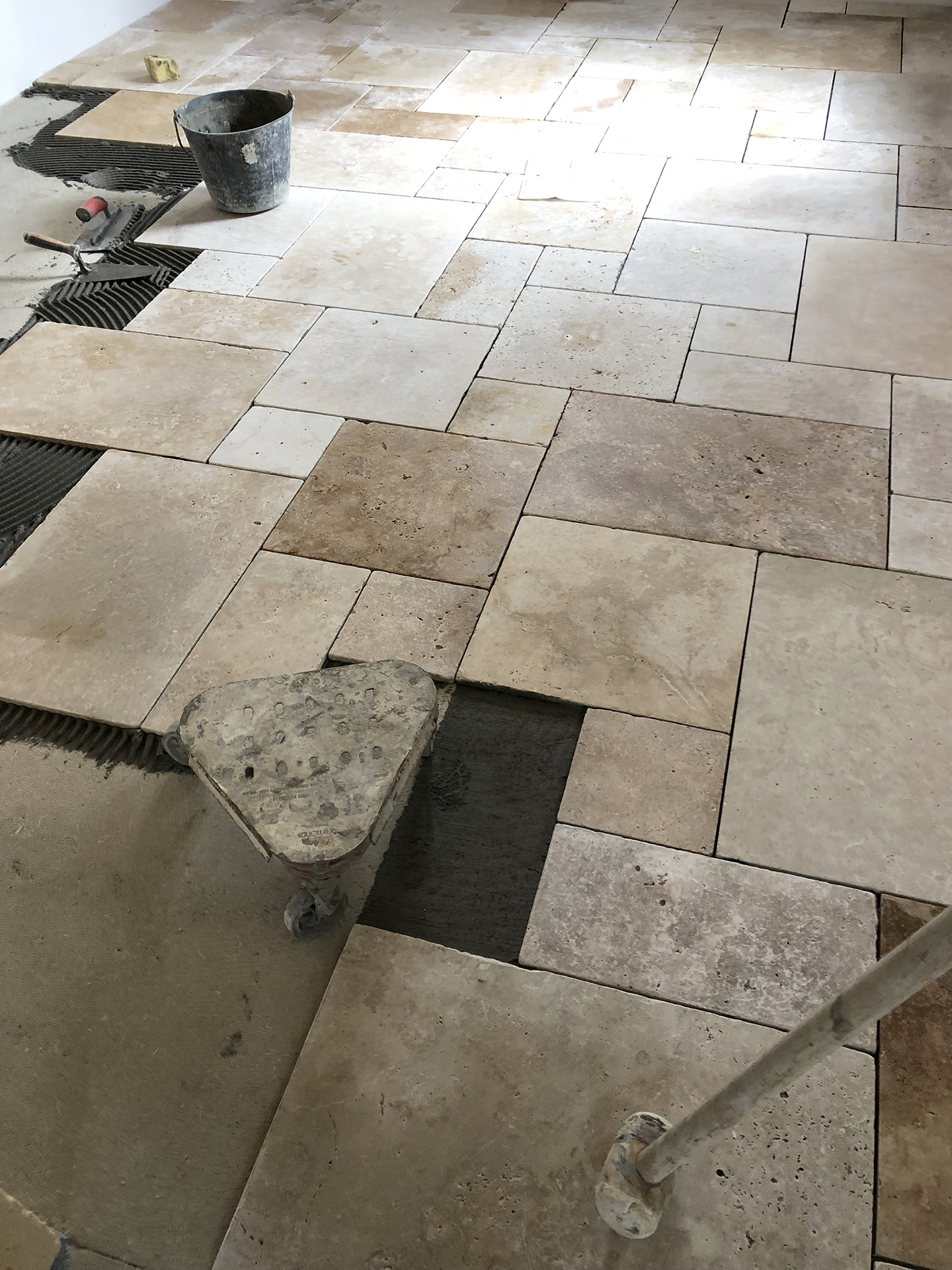 Travertine installation