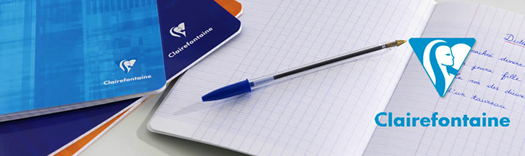 Clairefontaine notebook: my favorite! Always a pleasure to write on such smooth paper.  Photo credit: Clairefontaine