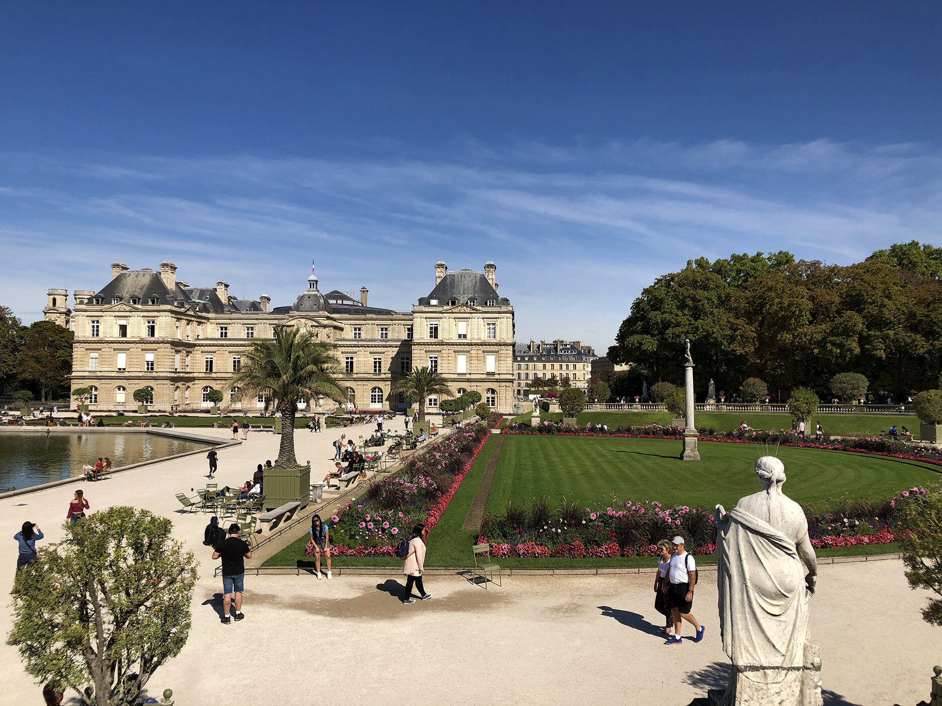 The Luxembourg palace is where the French Senate sits