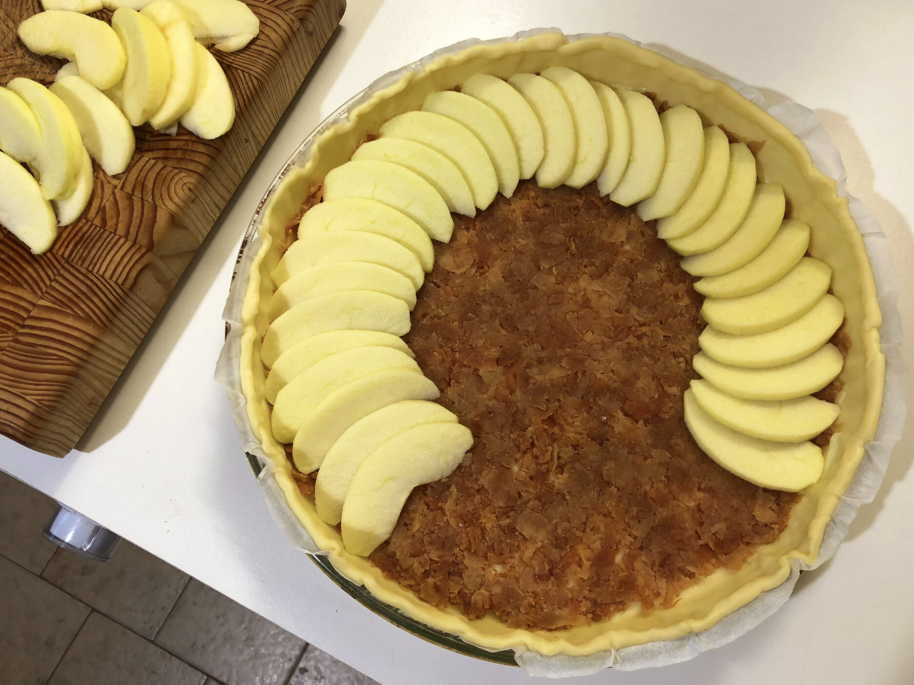 Quince and apple tart