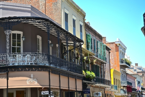 Beautiful view of the French Quarter in New Orleans