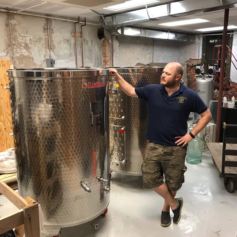 Distiller Nate Groenendyk ( Photo Credit: Sangfroid Distilling )
